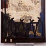 Correspondências póstumas, Paulo Gaiad, 1995. Acrílica e colagem sobre aço, 100x120cm.
