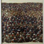 """Estudos preparatório para a """"divina comédia"""" [Porta do Inferno], Paulo Gaiad, 2003. Fotografia, acrílica e colagem sobre papel, 80x101cm."""