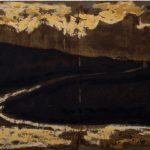 Galícia VII, Paulo Gaiad, 2005. Tinta e colagem sobre aço, 30x50cm.