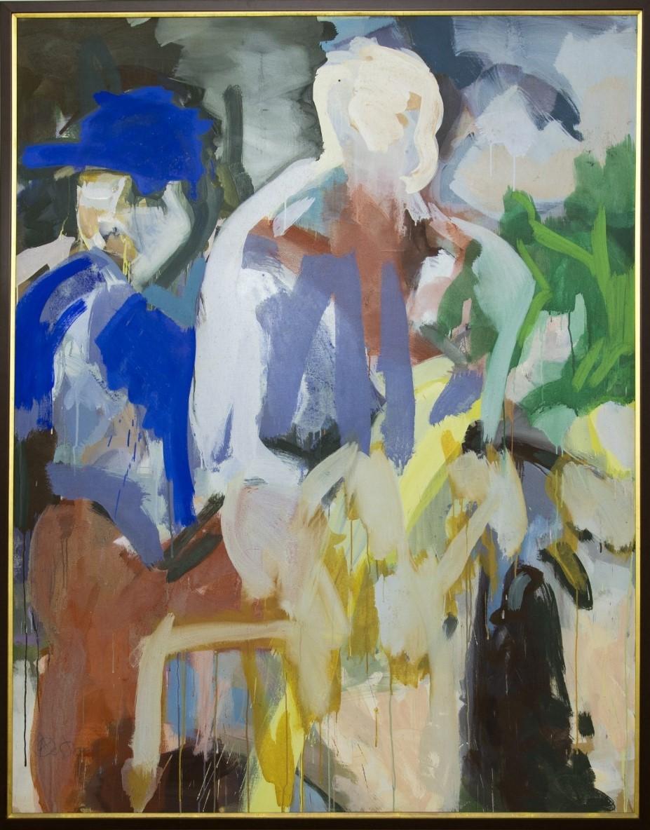 Impressão Americana, Rubens Oestroen, 1984. Acrílico sobre tela, 145x194cm.