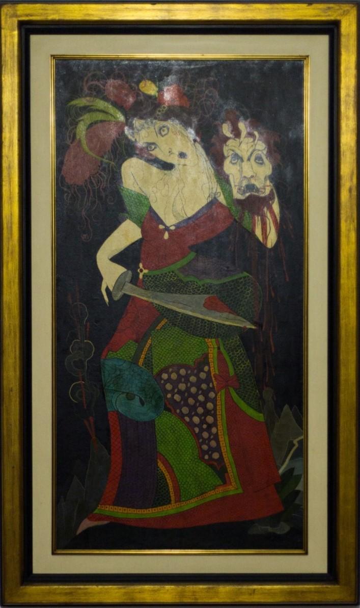 Judite, Rodrigo de Haro, 1973. Óleo sobre compensado, 98x164cm.