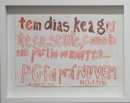 Sem título, Carlos Asp, 14.10.2016. Desenho sobre papel, 38x30cm.