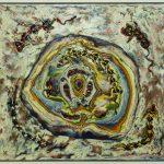 Sem título, Eli Heil, 1991. Técnica mista sobre aglomerado de polpa de eucalipto, 143x128cm.