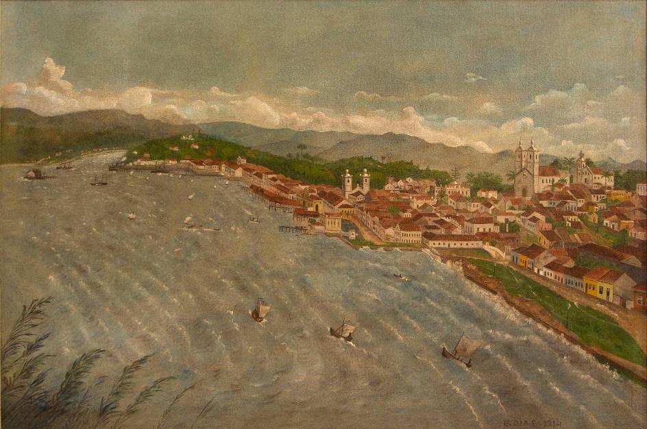 [11] Vista de Florianópolis, circa 1914. Eduardo Dias [1971]. Coleção Particular. Fotografia de Clarice Dantas.