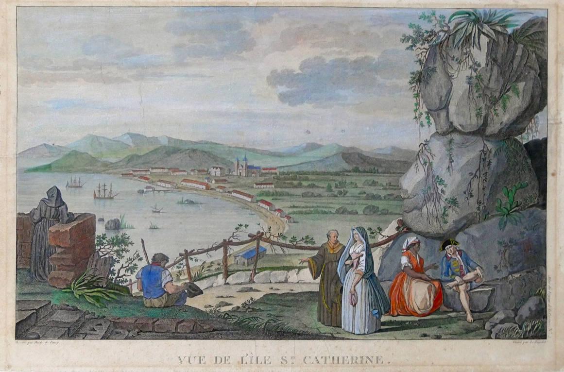 [21] Vista da Ilha de Santa Catarina, 1785. Gaspar Duche de Vancy [1756- 1788]. Coleção Catarina. Fonte Ylmar Corrêa Neto.