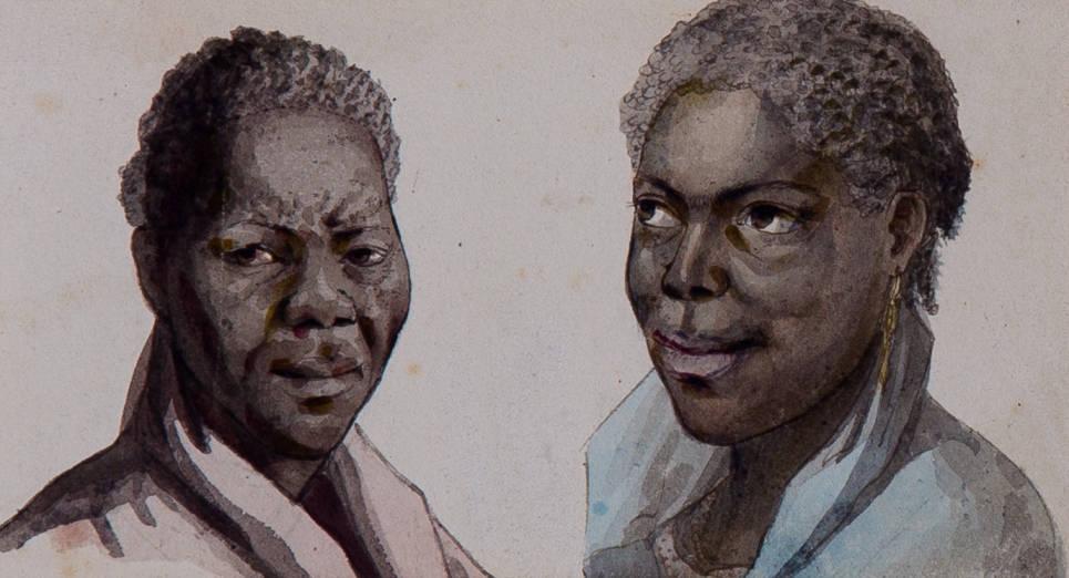 [22] Negros desenhados no Brasil, 1815. Louis Choris [1795-1828]. Coleção Catarina. Fotografia de Clarice Dantas.
