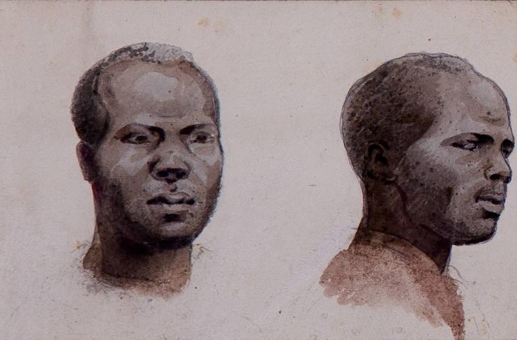 [23] Negros desenhados no Brasil II 1815, Louis Choris [1795-1828]. Coleção Catarina. Fonte Ylmar Corrêa Neto.