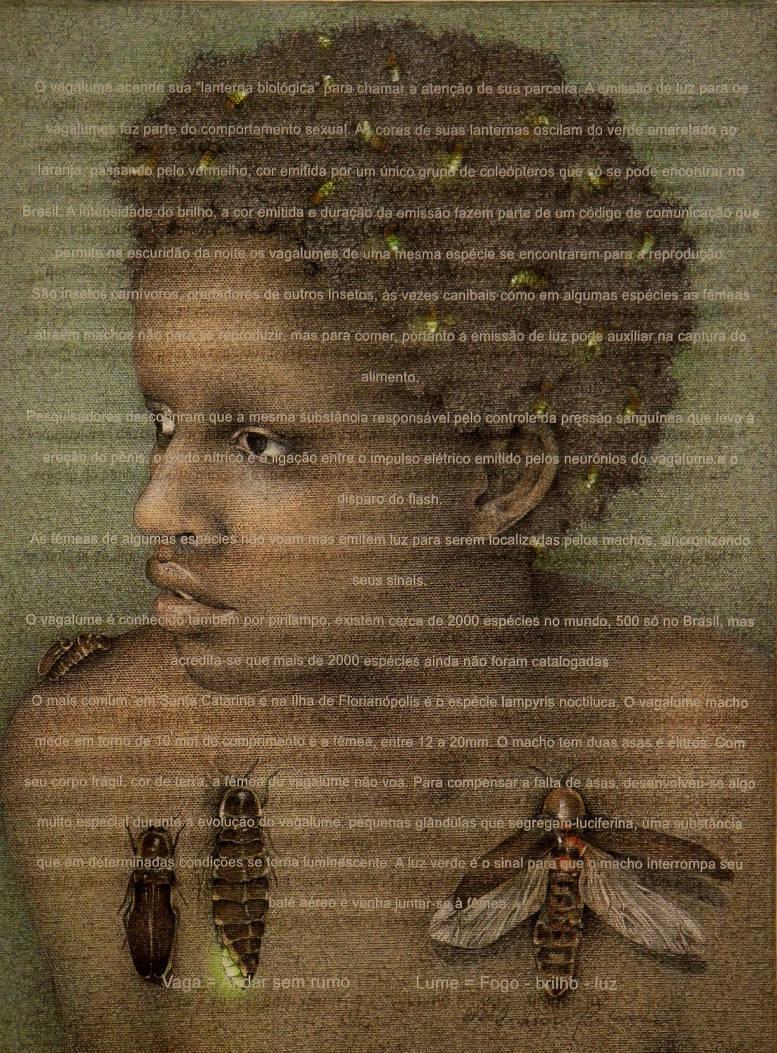 """[26] """"na noite dos seus cabelos os grampos são feitos de pirilampos que às estrelas querem chegar viajan"""