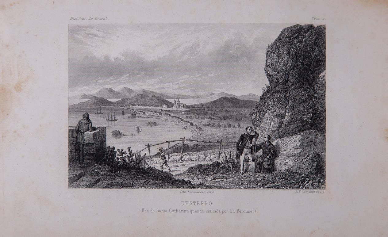 [41] Ilha de Santa Catarina quando visitada por La Perouse. Segundo Gaspar Duche de Vancy [1756-1788]. Coleção Catarina. Fonte Ylmar Corrêa Neto.