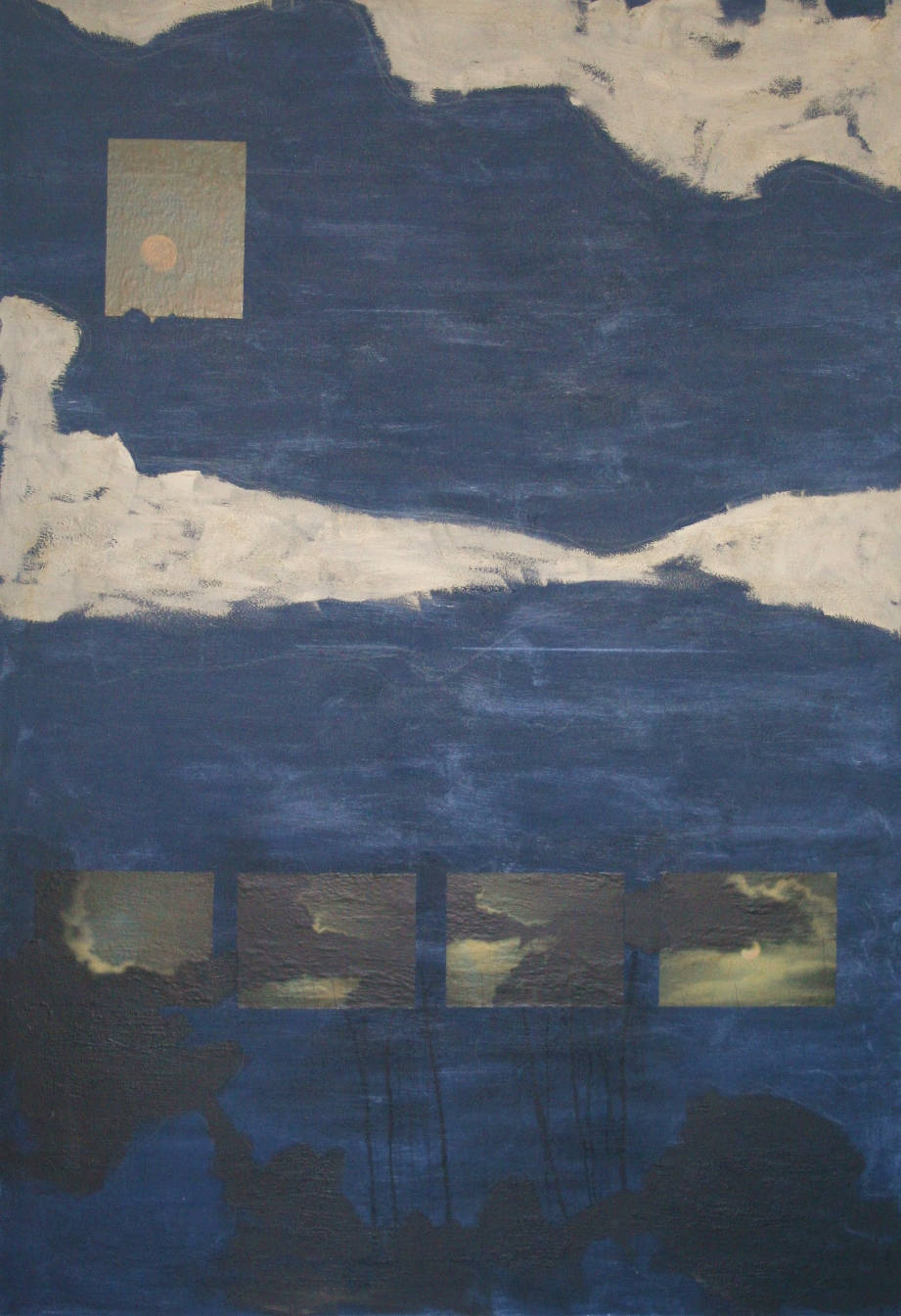 [42] As paredes que me cercam (noturno) [Céu do Campeche], 2003. Paulo Renato Gaiad [1953-2016]. Coleção Catarina. Fonte Ylmar Corrêa Neto.