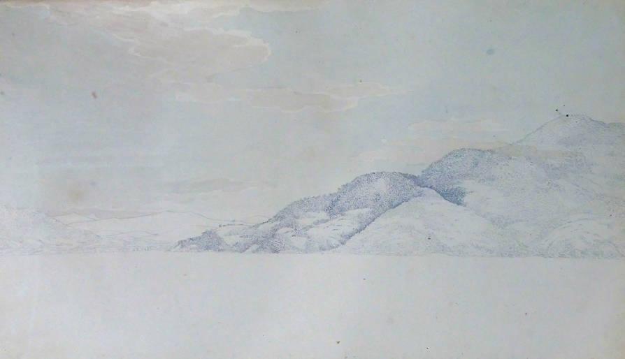 [5] Brasil, 1815, costa junto a Ilha de Anhatomirim. Louis Choris [1795-1828]. Coleção Catarina. Fonte Ylmar Corrêa Neto.