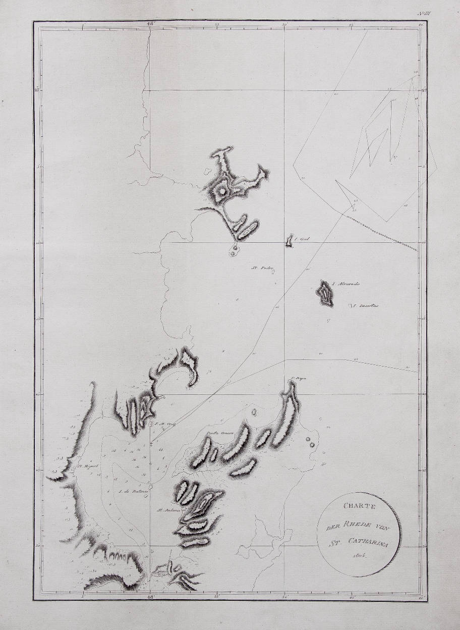 [56] Mapa da Ilha de Santa Catarina, 1804. Coleção Catarina. Fonte: Ylmar Corrêa Neto.