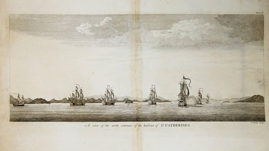 [61] A View of the north entrance of the harbour of St. Catherines, 1740. Coleção Catarina. Fonte: Ylmar Corrêa Neto.
