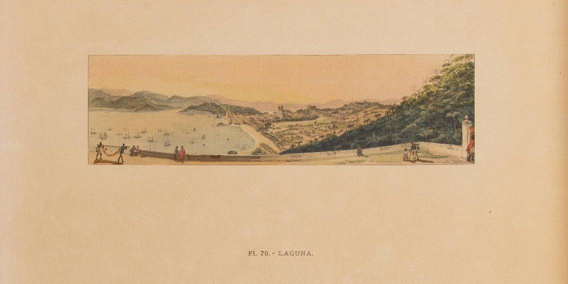 [6] Desterro vista do hospital, 1826, erroneamente identificada como Laguna. Jean-Baptiste Debret [1768-1848]. Coleção Catarina. Fonte Ylmar Corrêa Neto.